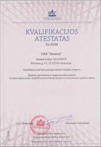 Kvalifikacijos atestatas Herasta